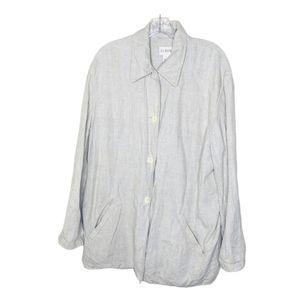 J. Crew Linen Button Down Jacket Size Large